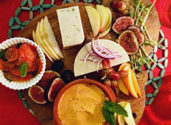 V-curious cheese plate