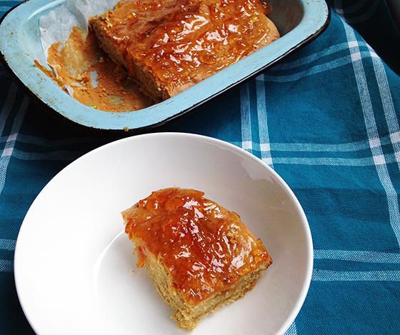 Sunrise ginger and marmalade sponge