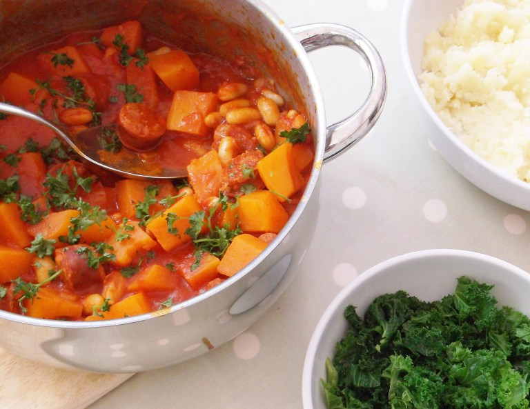 Chorizo-cannellini-bean-and-butternut-stew