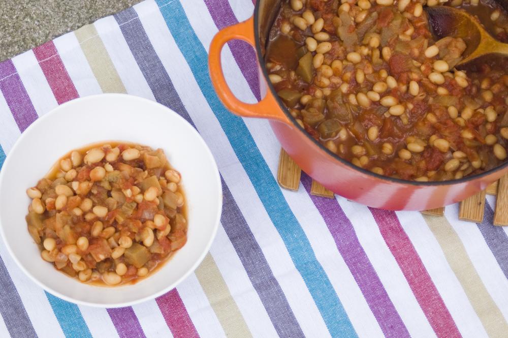 Homemade-smoky-beans-with-aubergine