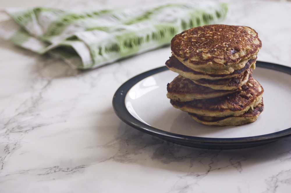 Buckwheat-drop-scones-with-courgette-banana-refined-sugar-free