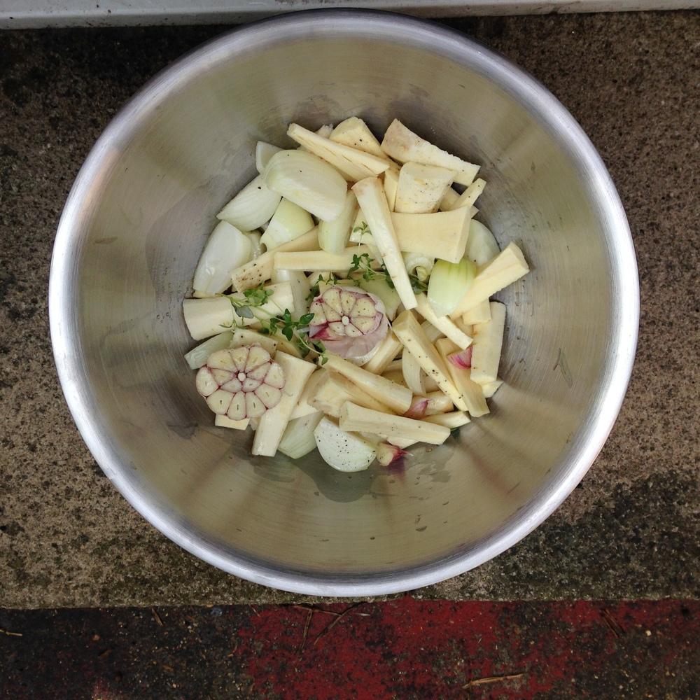 Ottolenghi roasted parnip salad