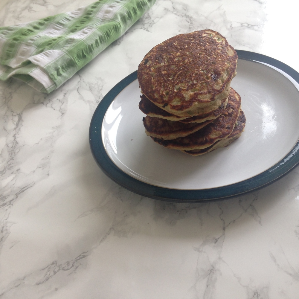 Courgette buckwheat pancakes