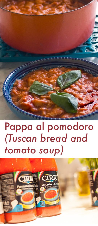 Pappa al pomodoro (bread and tomato soup) recipe and Cirio 160 anniversary event with Antonio Carluccio