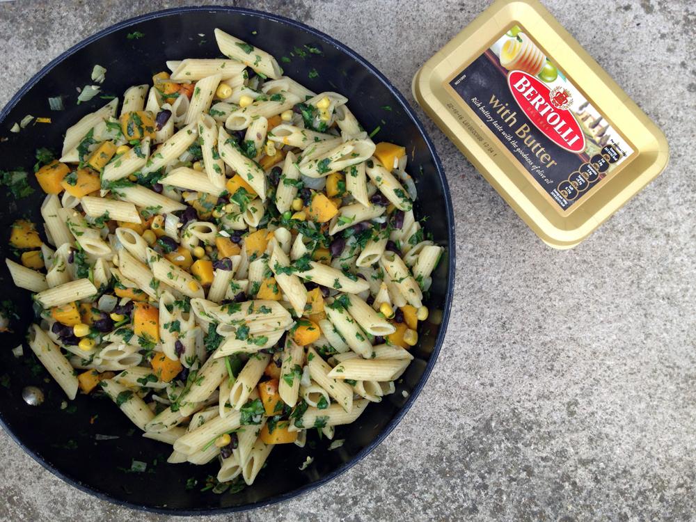 Rio pasta recipe with squash, corn and black beans