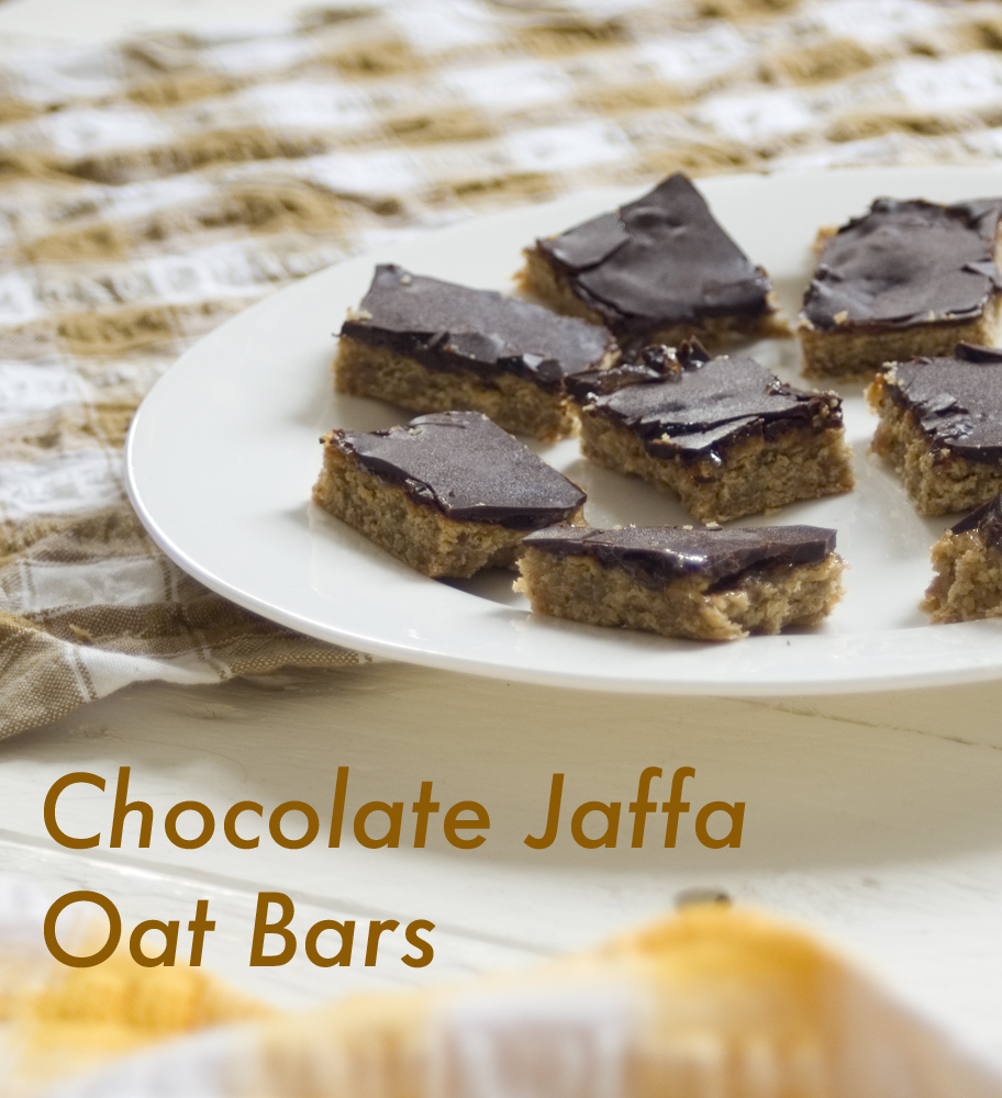 Chocolate jaffa oat bars recipe