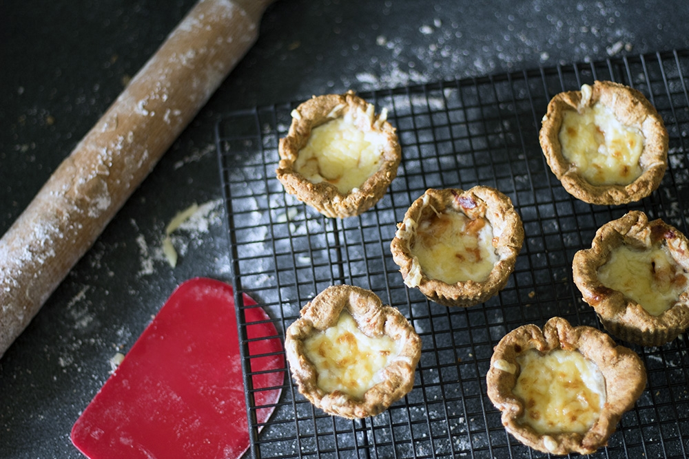 Mini baked bean and cheese pies for Flora