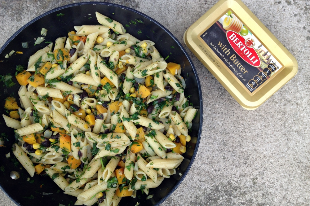 Rio pasta with squash, corn and black beans for Bertolli With Butter