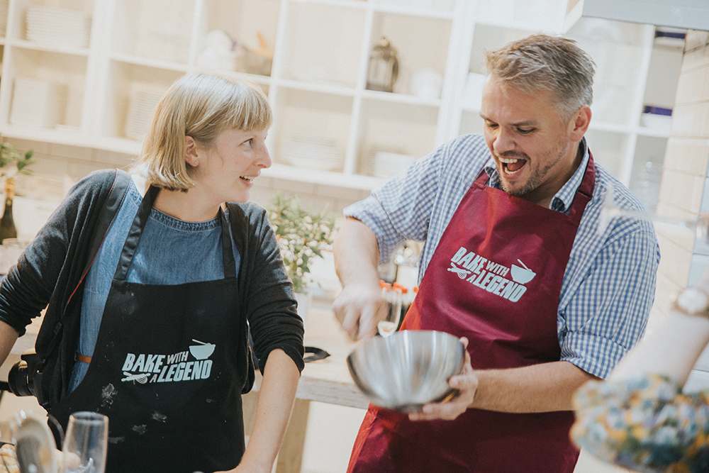 The reason I look so pleased is because Glenn took over hand whisking my cream for me! I'm not sure what he was looking so pleased about - perhaps I'd cracked a particularly good joke?