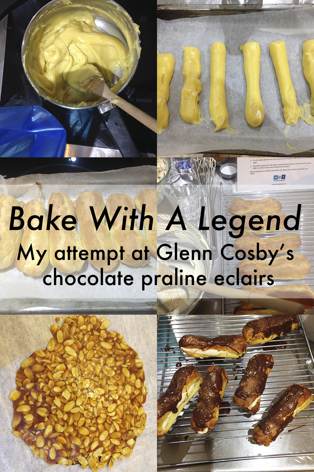 I dread to think what Paul and Mary would have said at the sight of my eclairs before they went in the oven but they tasted great nonetheless!