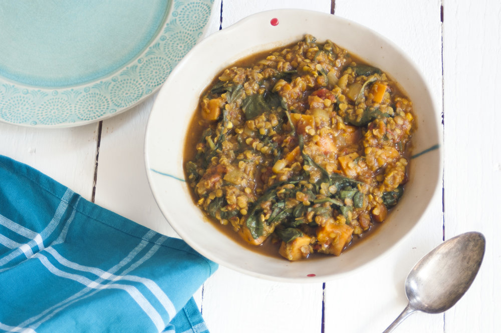 Spinach-sweet-potato-dahl-vegan-recipe