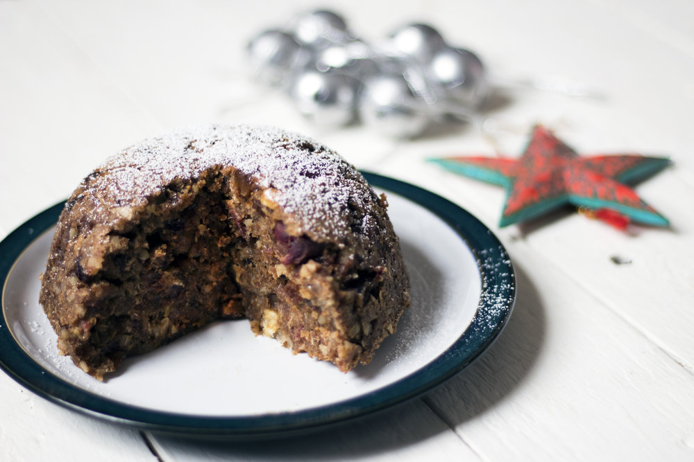 Vegan-refined-sugar-free-Christmas-pudding