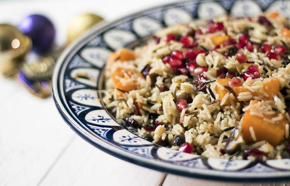 Vegan-wild-rice-pilaf-cranberry-butternut-squash-chestnut