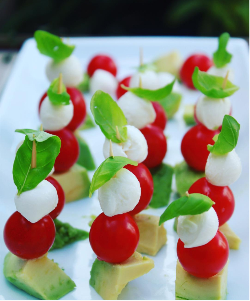 Veg skewers for kids parties