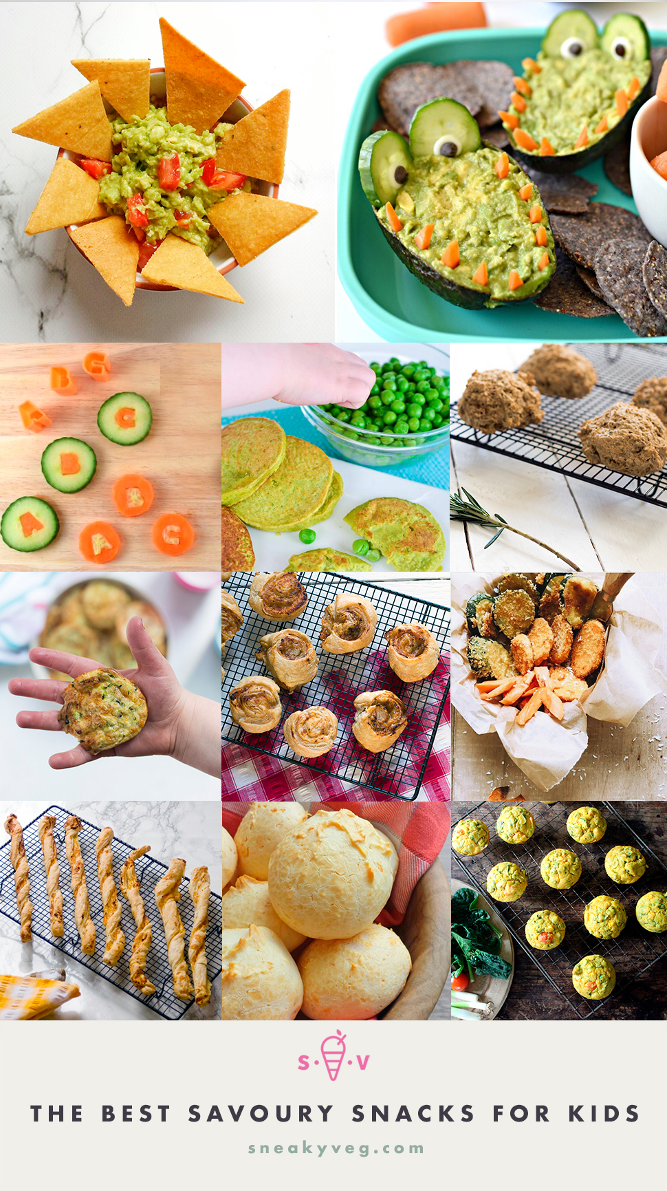 The best recipes for healthy savoury snacks for kids