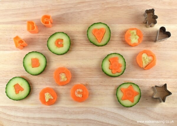 Carrot and cucumber coins recipe