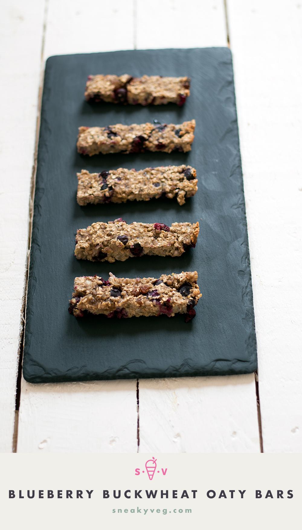 Banana and blueberry buckwheat oaty bars recipe