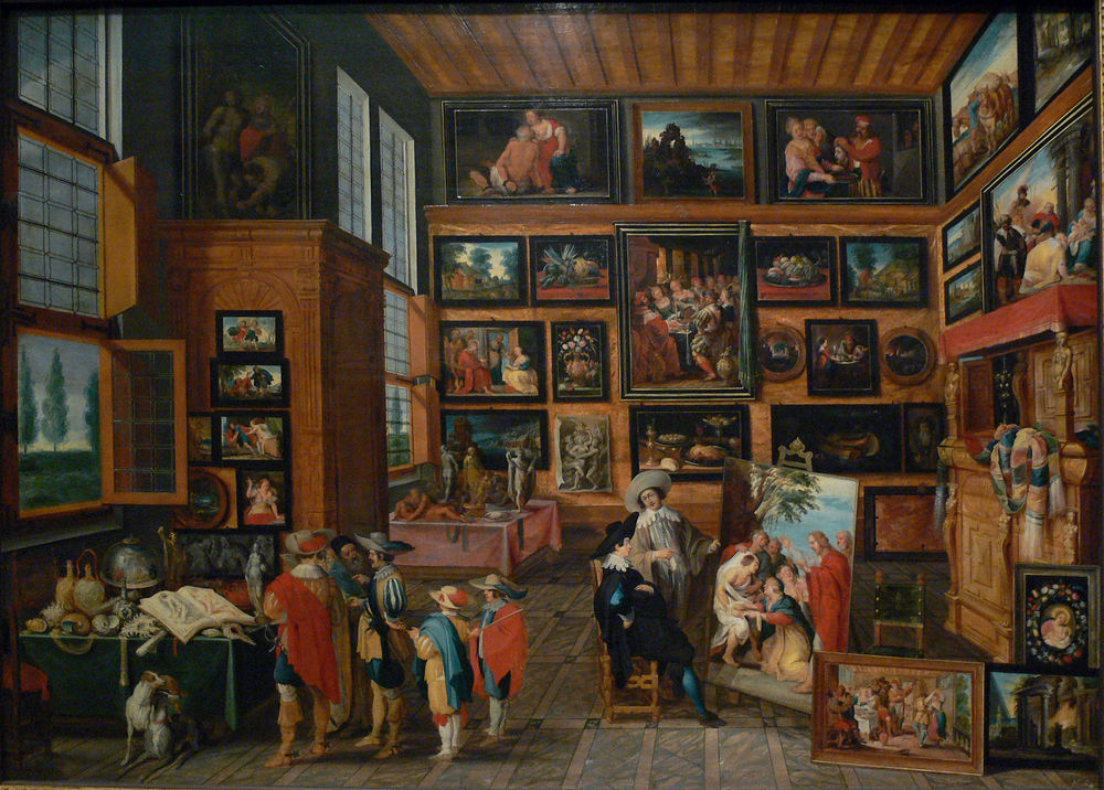 Gallery by  Hans III Jordaens  and figures by   Cornelis de Baellieur  , ca. 1630