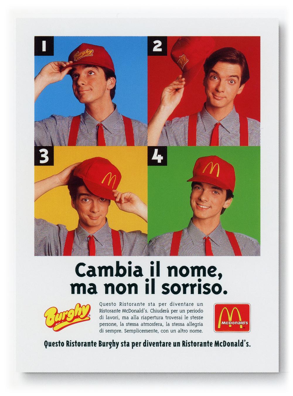 Campagna punto vendita per McDonald's (di cui curavo tutta la grafica all'epoca) realizzata con Erica Pontalti dove per eccesso di zelo ho fatto anche da modello.