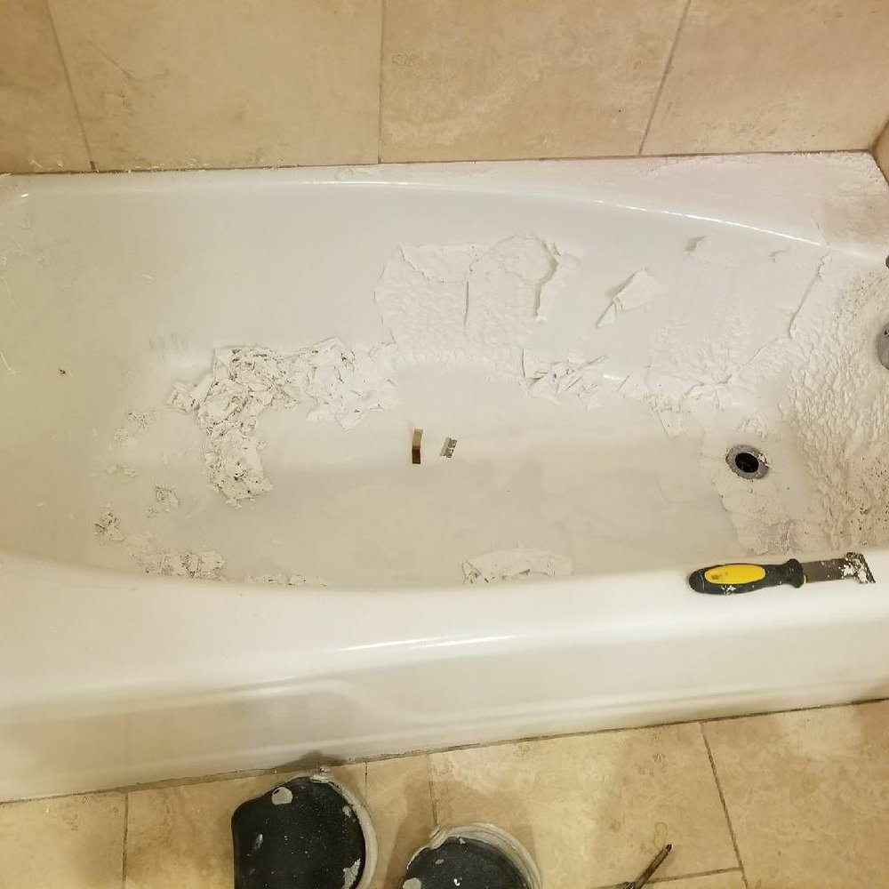 Bathtub and Wall Tile Reglazing — C&C Painting and Gutters, LLC