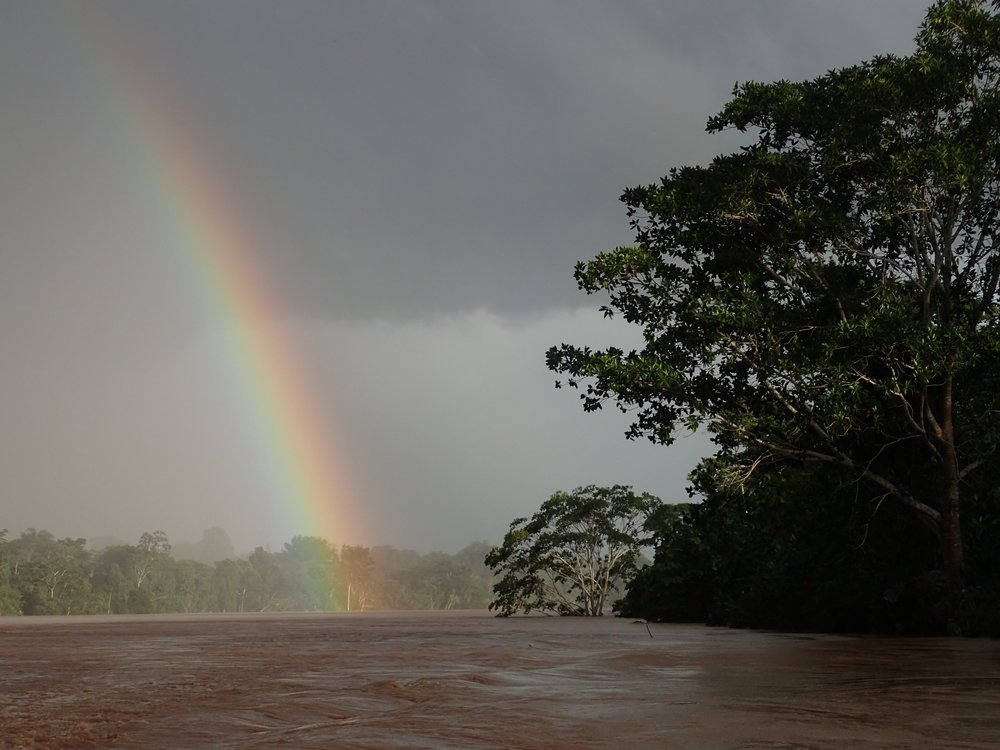 Rainbow over the Tambopata river