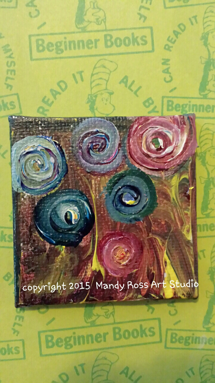 2×2 inch acrylic on canvas board