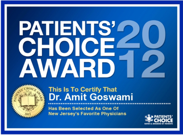 Amit Goswami, MD | Patients' Choice Award 2012