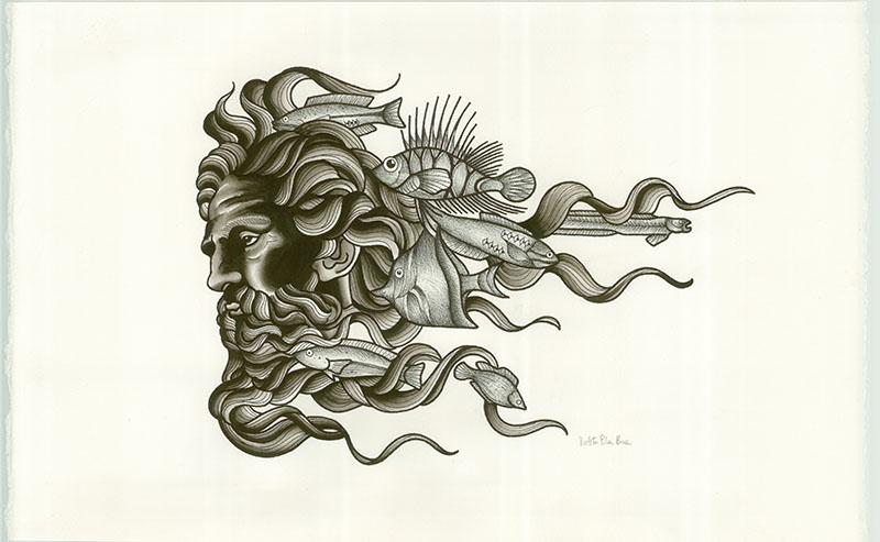 Viola Von Hell <br> Poseidon, 2016 <br> SOLD