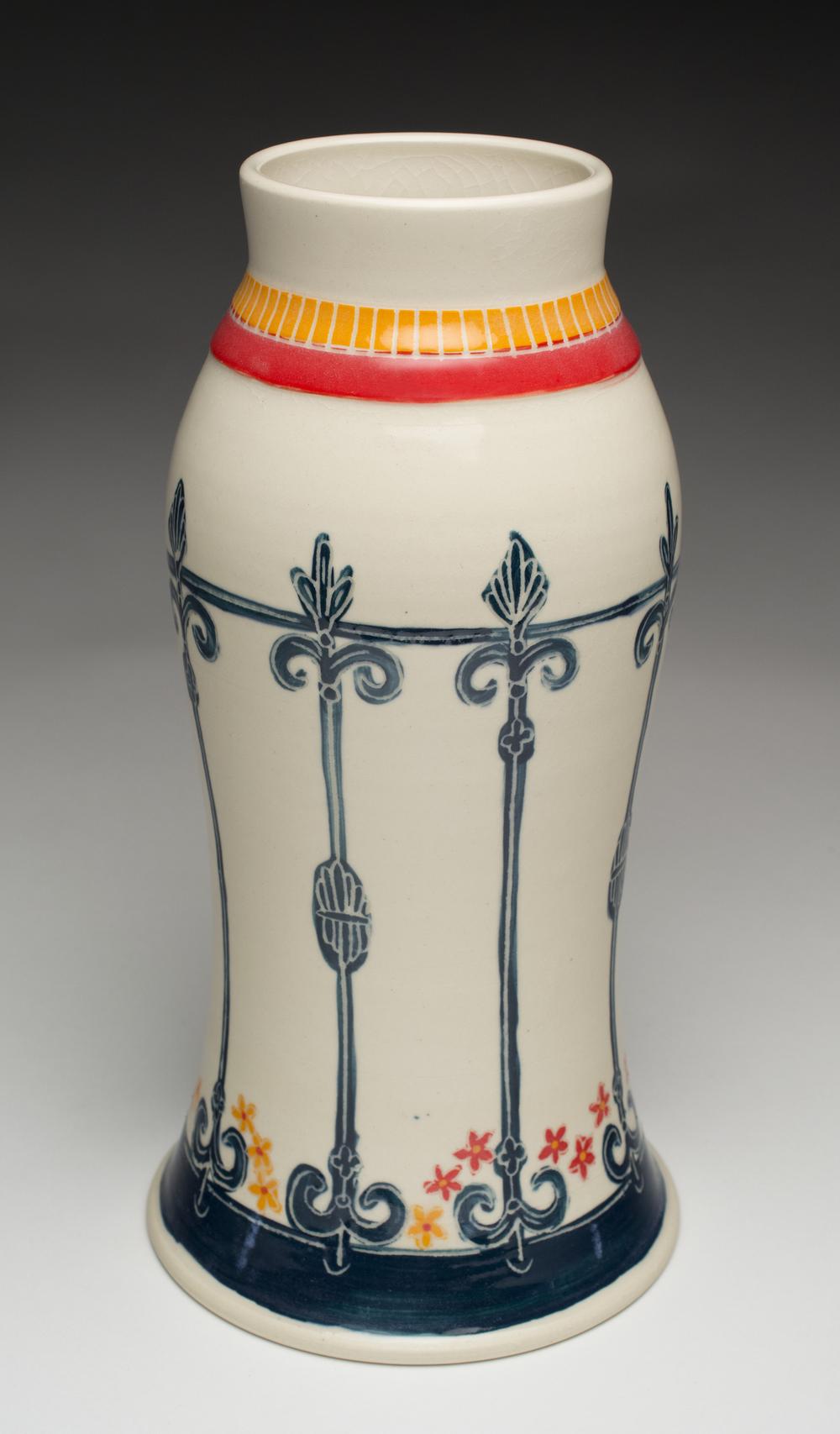 Navy Fence Vase