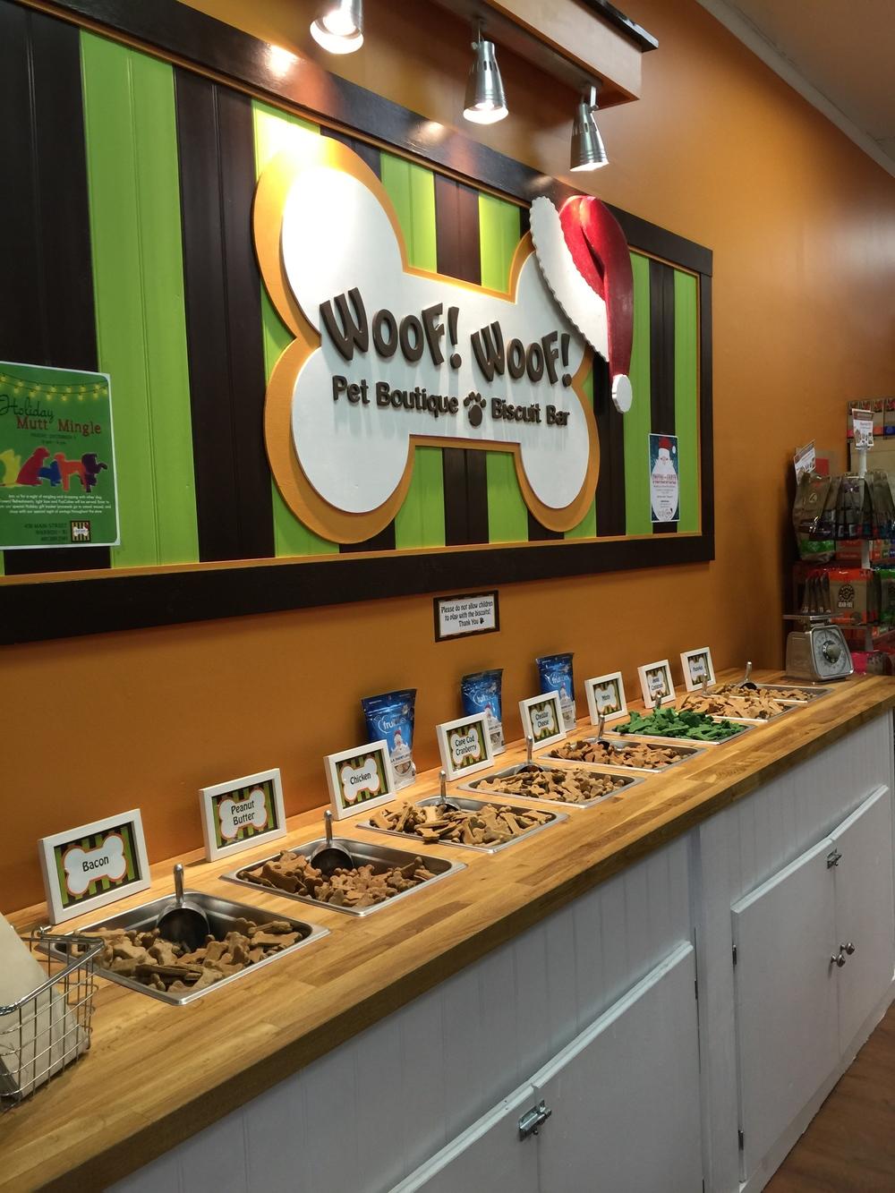 woof woof treat bar