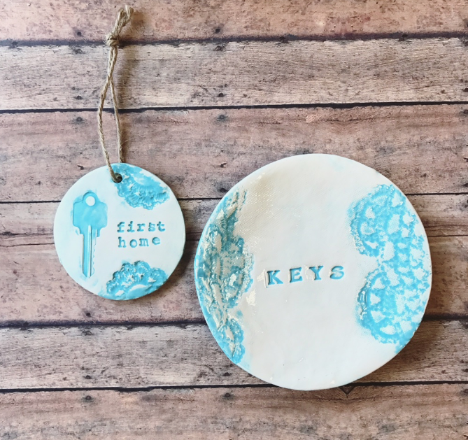 We offer a special key plate and ornament combo to realtors- $50  (reg. $60)