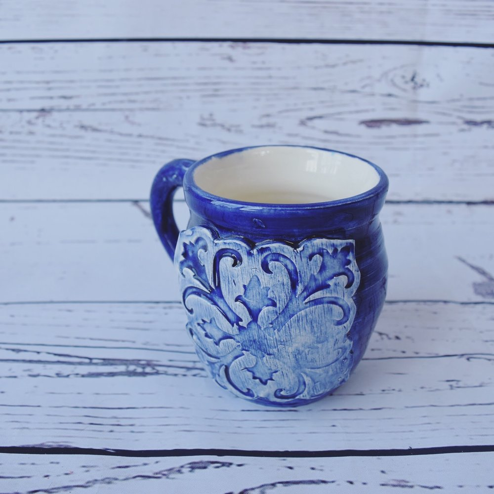 Wheel Thrown Mug from In God We Trust Ceramics Etsy shop