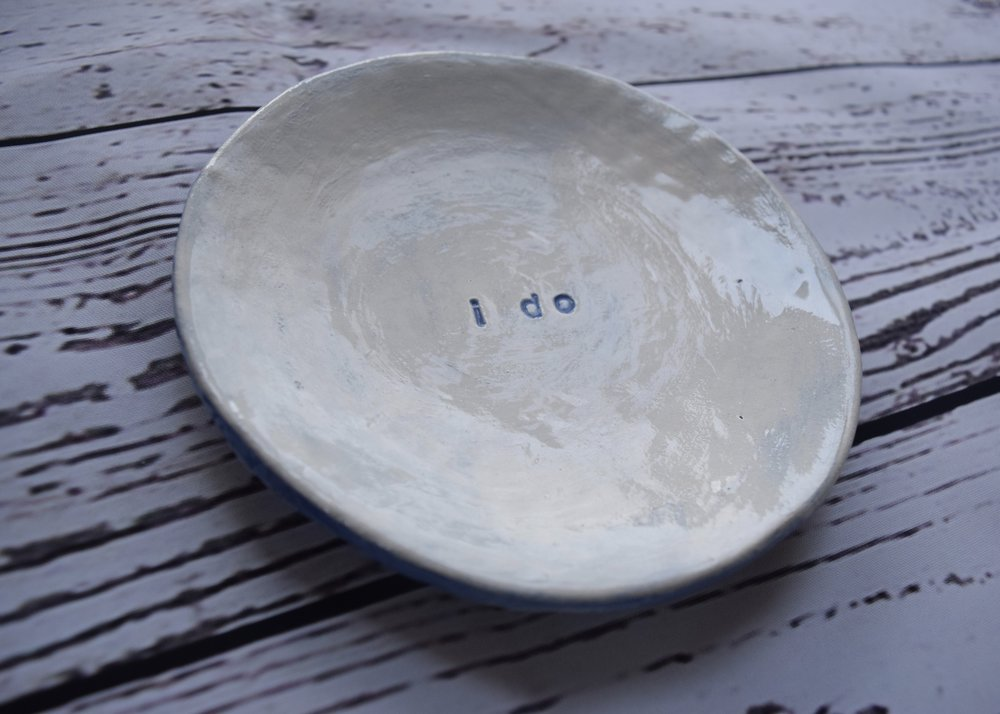 I Do engagement or wedding shower plate