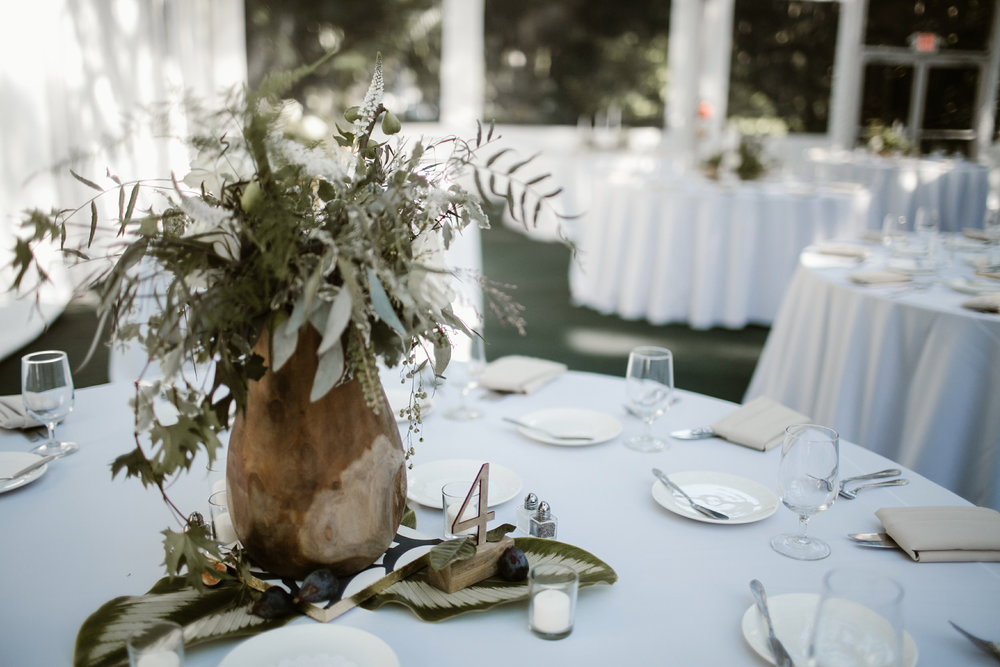 Natural greens wedding