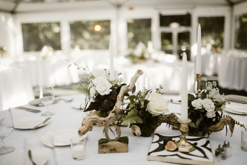 Wood branch centerpiece
