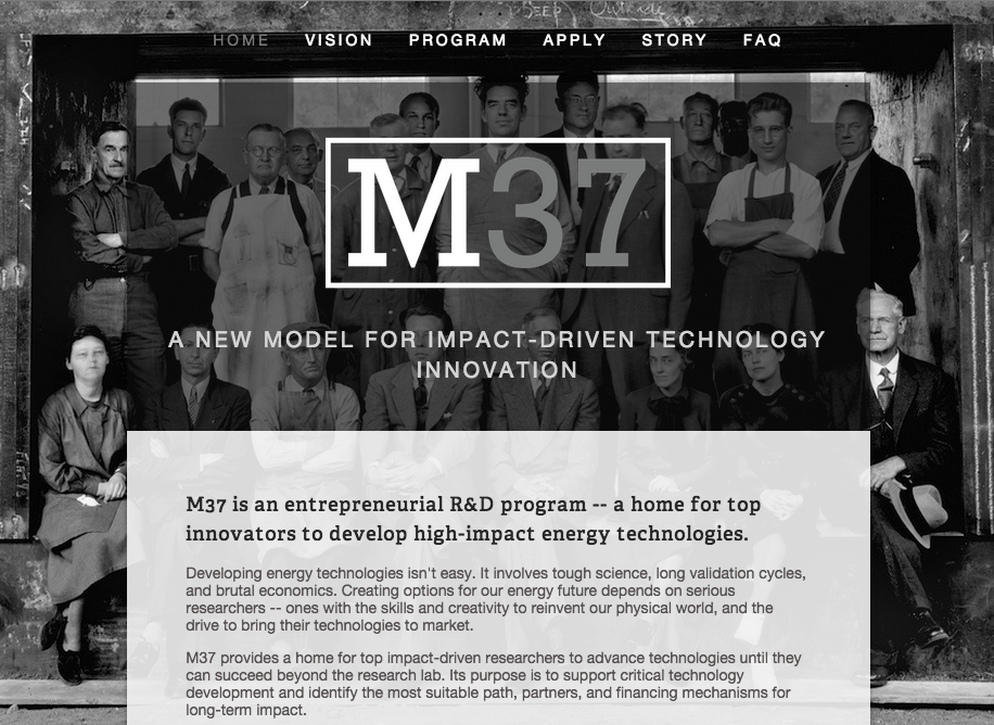 The original M37 recruitment web page.