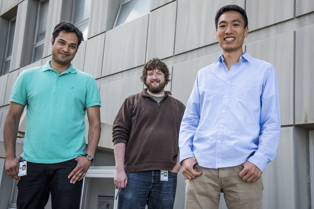 Co-founders Shaurjo Biswas, Ph.D., Barry Van Tassel, Ph.D., and Andrew Hsieh, Ph.D.