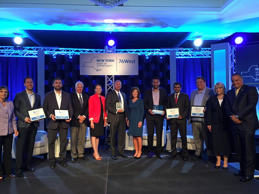 Visolis founder Deepak Dugar (fourth from right) at the 76West award ceremony.