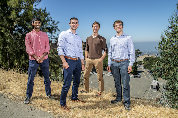 Antora Energy: (left to right) Tarun Narayan, David Bierman, Justin Briggs, Andrew Ponec.