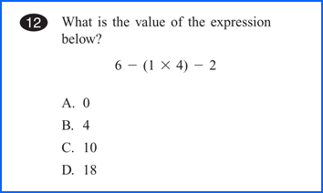 Worksheets Math Questions a walk in the parcc part 1 math match education typical mcas multiple choice question asks student to select one of four correct answers for example consider this order