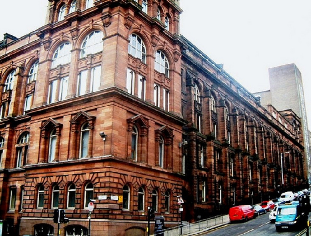 The Royal College Building near George Square (click to access the Strathclyde University webpage)