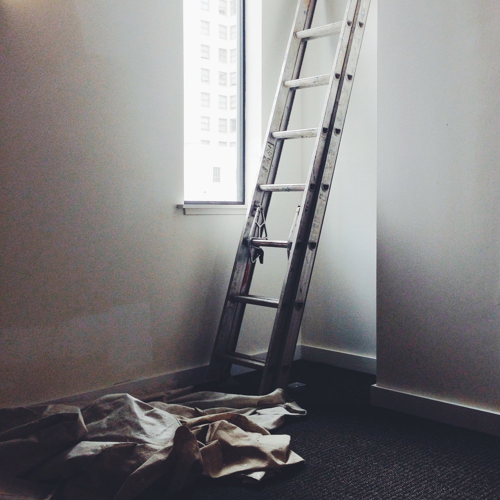 When the ladder awoke with stiff rails for the fourth day in a row, he knew it was time for a proper bed.