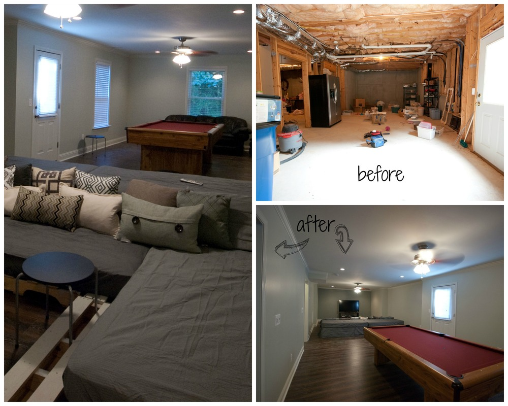 Basement renovation via Drum Home