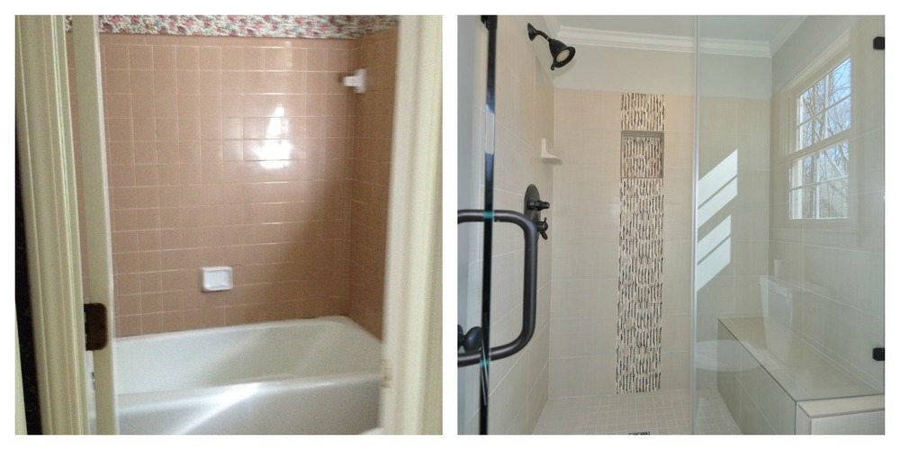 Bath reno via Drum Homes