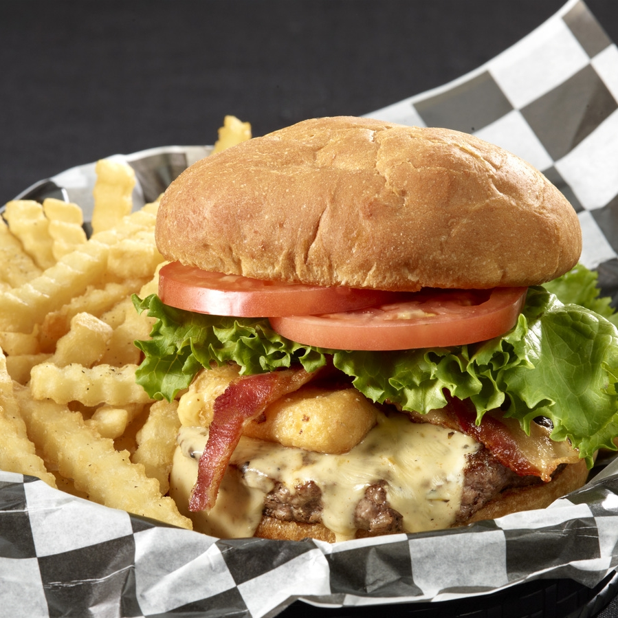 Hall Of Fame Cheese Curd Burger