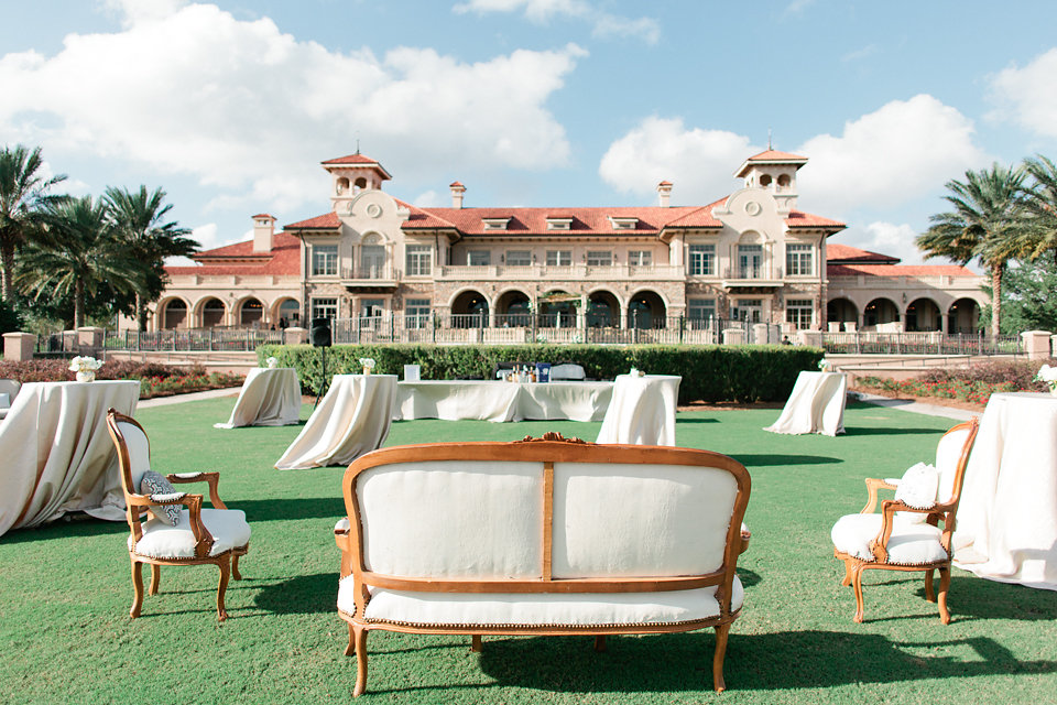 TPC Sawgrass wedding cocktail hour lounge furniture