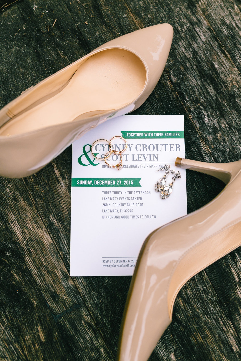 Wedding invitation + pumps Lake Mary Wedding