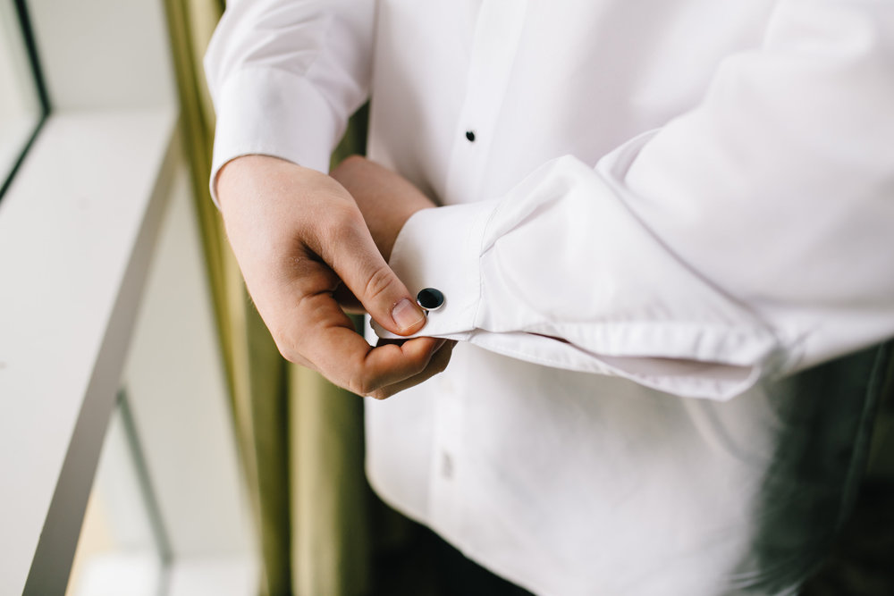 Groom cuff links, dapper details