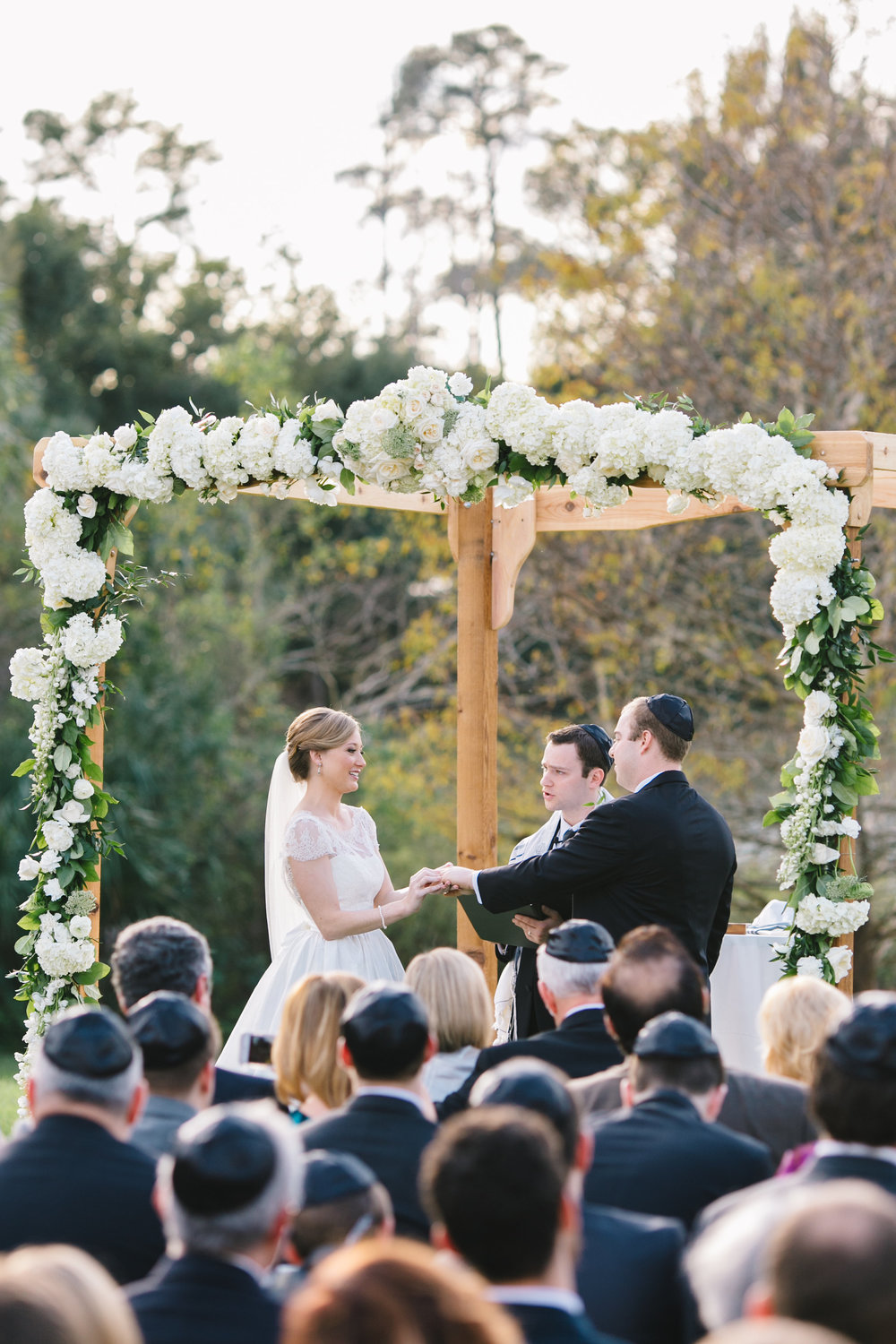 Traditional wedding ceremony huppah