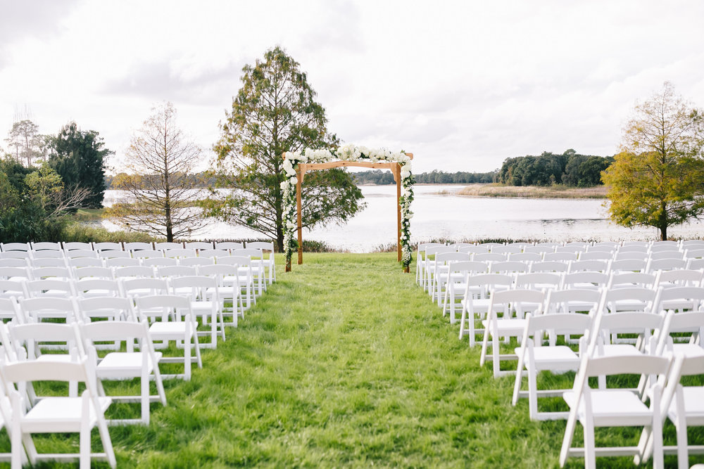 Lakeside wedding ceremony, Lake Mary Event Center